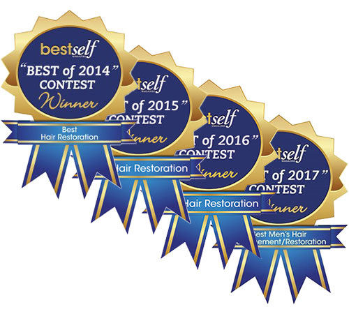 BestSelf Best Hair Restoration winner 4 years in a row
