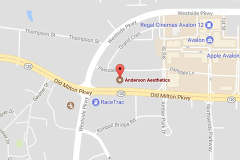 Map of Anderson Aesthetics in Alpharetta, GA