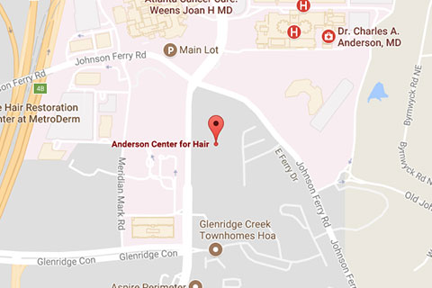 Map of Anderson Aesthetics in Atlanta, GA